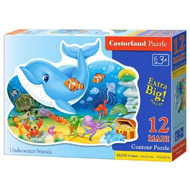 Castorland maxi kinderpuzzel Vrienden Onderwater 12 stukjes vana