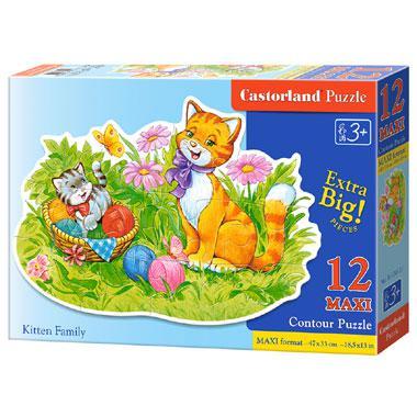 Castorland kinderpuzzel Kattenfamilie 12 stukjes vanaf 3 jaar