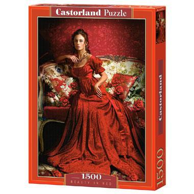 Selecta Castorlandleg puzzel Schoonheid in het Rood 1500 stukjes