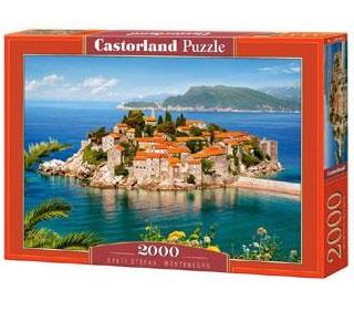 Castorland legpuzzel Sveti Stefan Montenegro 2000 stukjes