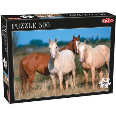 Tactic puzzel drie paarden 500 stukjes vanaf 9 jaar