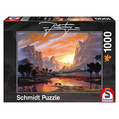 Schmidt legpuzzel Vallei Badend in Goud Licht 1000 stukjes