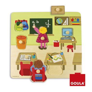Goula noppenpuzzel op School 7 stukjes vanaf 2 jaar