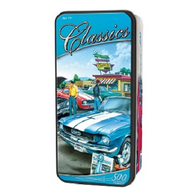 Tactic puzzel klassieke autos in tin box 500 stukjes