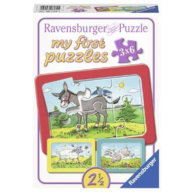 Ravensburger kinderpuzzel Mijn Eerste Puzzels Ezel met Schaap en