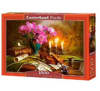 Selecta Castorland legpuzzel Still Life with Violin and Flowers