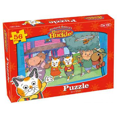 Tactic Richard Scarry kinderpuzzel Hurray for Huckle De Tuin 56