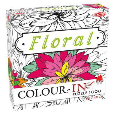 Tactic legpuzzel Colour in Bloemen 1000 stukjes