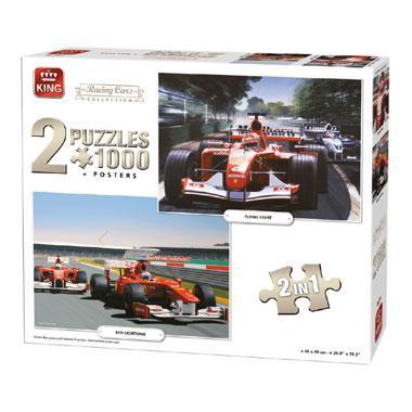 King legpuzzel Ferrari Formule 1 autos 1000 stukjes
