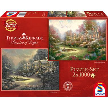 Schmidt Thomas Kinkade legpuzzel Holiday at Spring 1000 stukjes