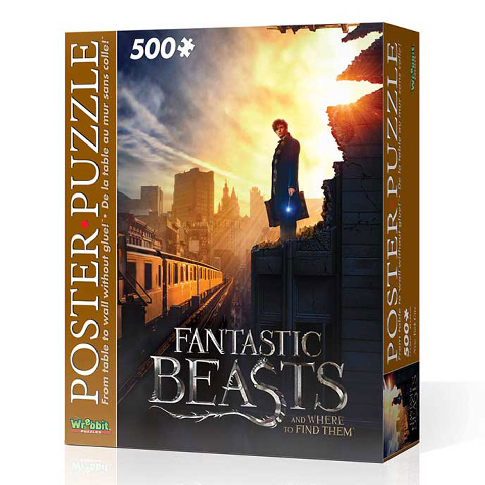 Wrebbit poster puzzel fantastic beasts New York 500 stukjes