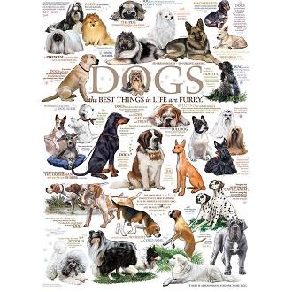 Eureka Cobble Hill legpuzzel Honden 1000 stukjes