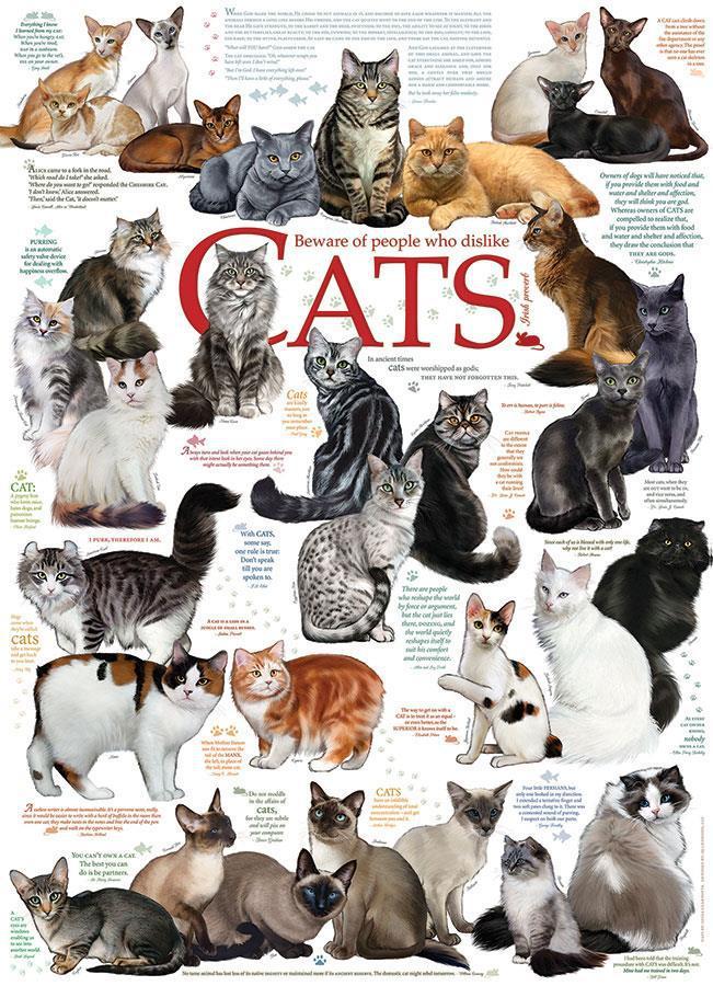 Eureka Cobble Hill legpuzzel Katten 1000 stukjes