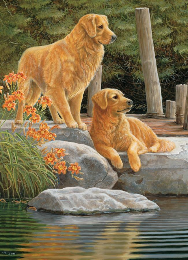 Eureka Cobble hill legpuzzel Gezamenlijke Honden 1000 stukjes