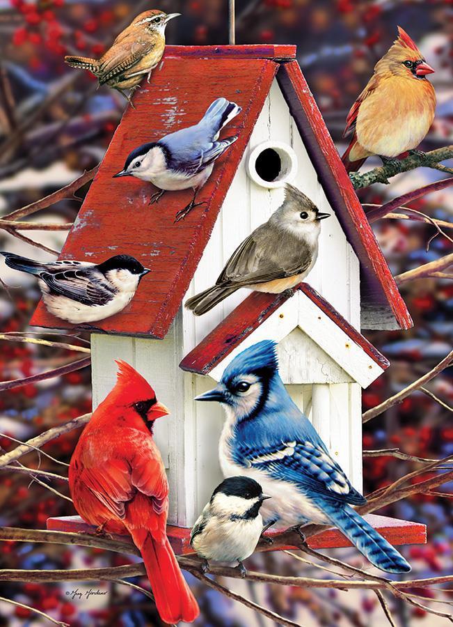Eureka Cobble hill legpuzzel Winter Vogelhuisje 1000 stukjes