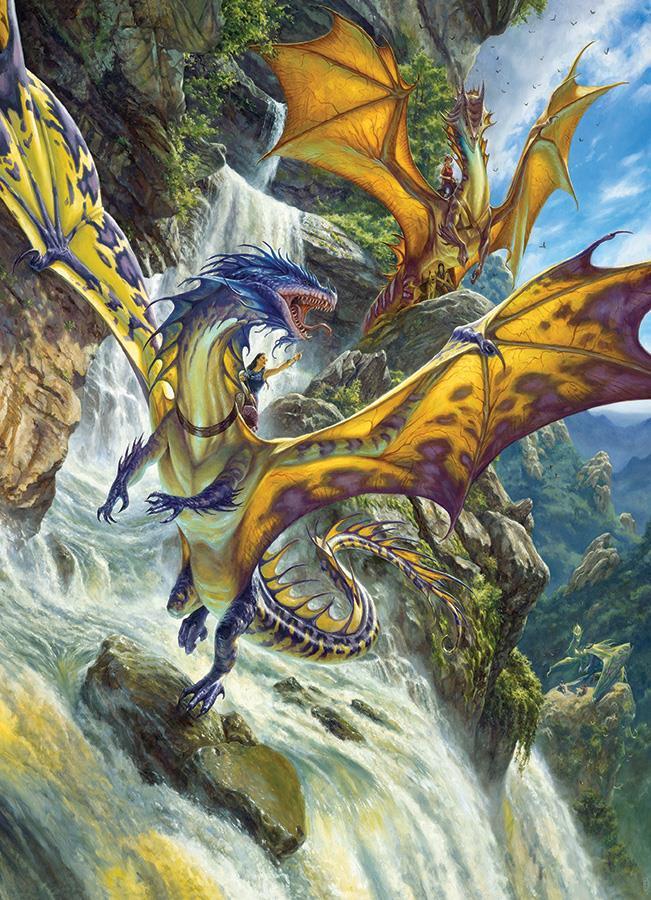 Eureka Cobble hill legpuzzel Draken Waterval 1000 stukjes