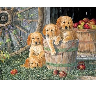 Eureka Cobble hill familie kinderpuzzel Puppy Emmer 400 stukjes
