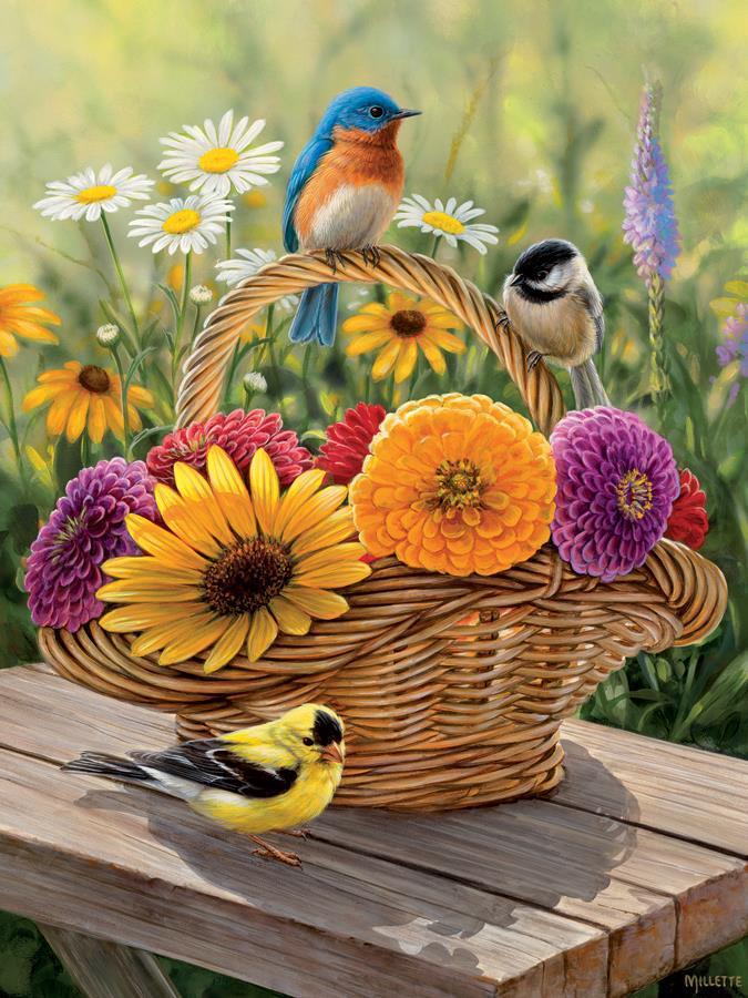 Eureka Cobble hill kinderpuzzel Zomer Bouquet 275 stukjes vanaf