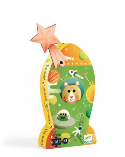 Djeco kinderpuzzel De Rakket 16 stukjes vanaf 3 jaar
