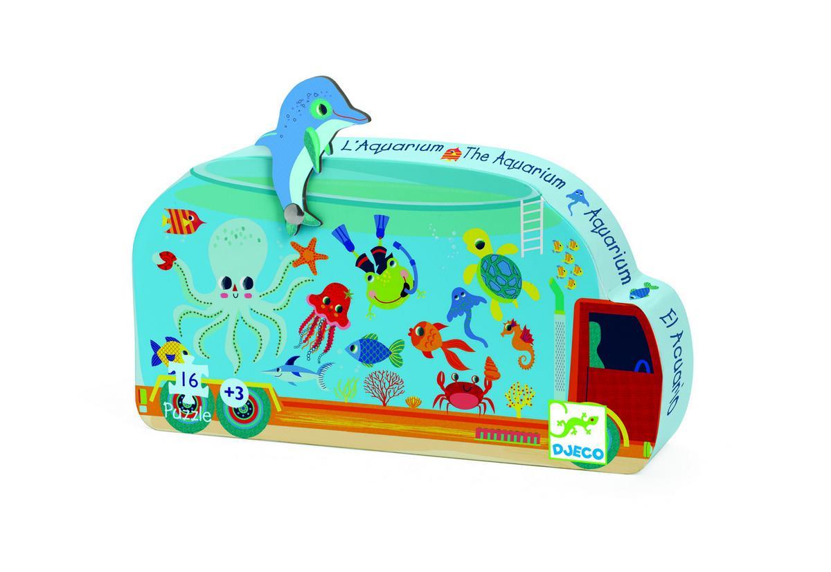 Djeco kinderpuzzel Het Aquarium 16 stukjes vanaf 3 jaar