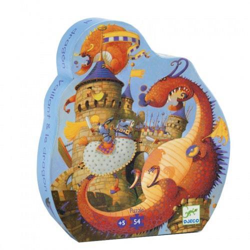 Djeco kinderpuzzel Ridder en de Draak 54 stukjes vanaf 5 jaar