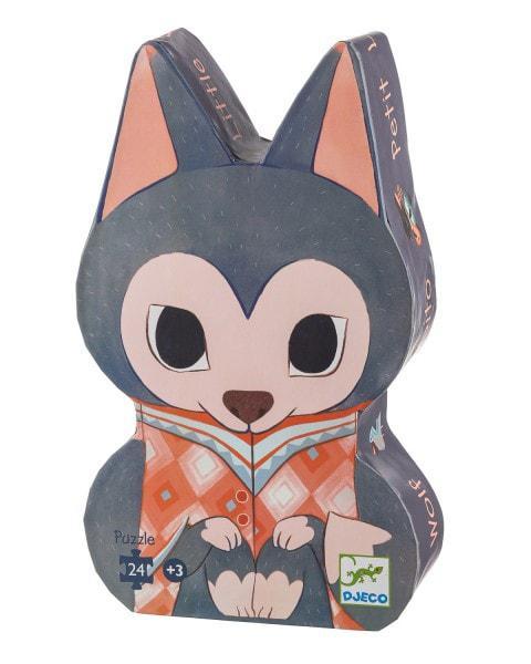 Djeco kinderpuzzel De Kleine Wolf 24 stukjes vanaf 3 jaar