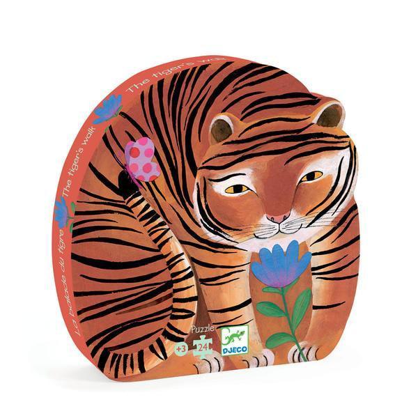 Djeco kinderpuzzel de tijger 24 stukjes vanaf 3 jaar