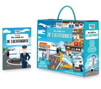 De Lantaarn Kinderpuzzel de Luchthaven 205 stukjes vanaf 6 jaar