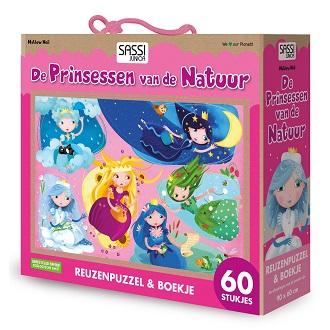 De Lantaarn Kinderpuzzel de prinsessen van de natuur 60 stukjes