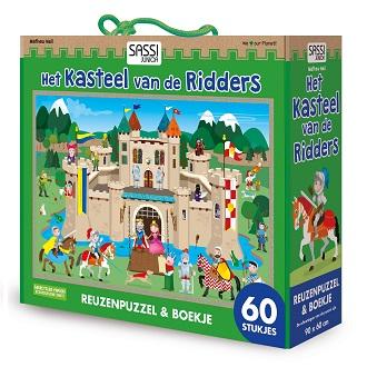 De Lantaarn kinderpuzzel het Kasteel van de Rridders 60 stukjes