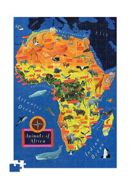 Crocodile creek kinderpuzzel Afrika met Poster 200 stukjes vanaf