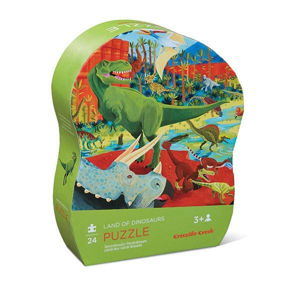Crocodile creek kinderpuzzel de Dinosaurus 24 stukjes vanaf 3 ja