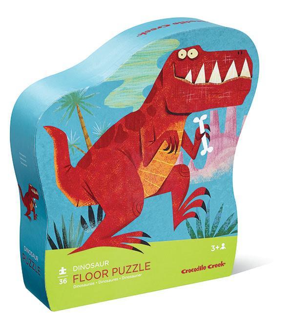 Crocodile creek kinderpuzzel Dinosaurus Bruin 36 stukjes vanaf 3