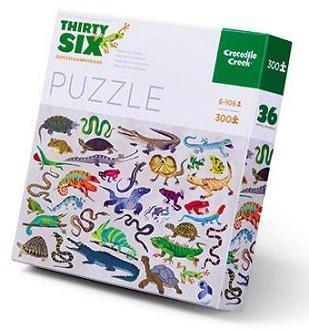 Crocodile creek puzzel 36 reptielen 300 stukjes vanaf 8 jaar