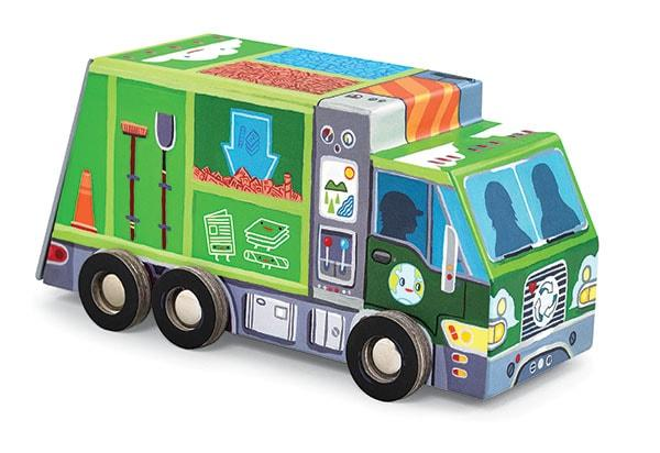 Crocodile creek kinderpuzzel Speel Recycle Wagen 48 stukjes vana