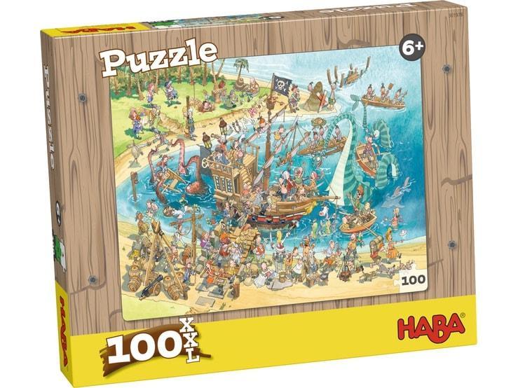 Haba XXL kinderpuzzel Piraten 100 stukjes vanaf 6 jaar