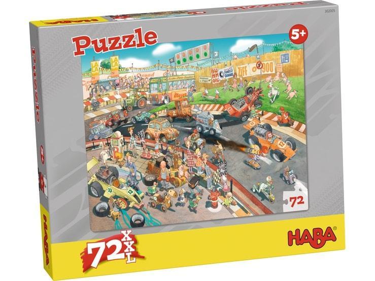 Haba XXL kinderpuzzel autorace 72 stukjes vanaf 5 jaar