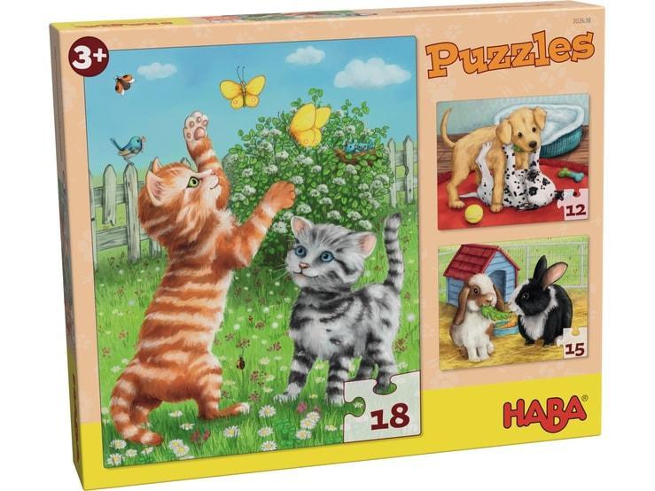 Haba kinderpuzzel Huisdieren 18 stukjes vanaf 3 jaar