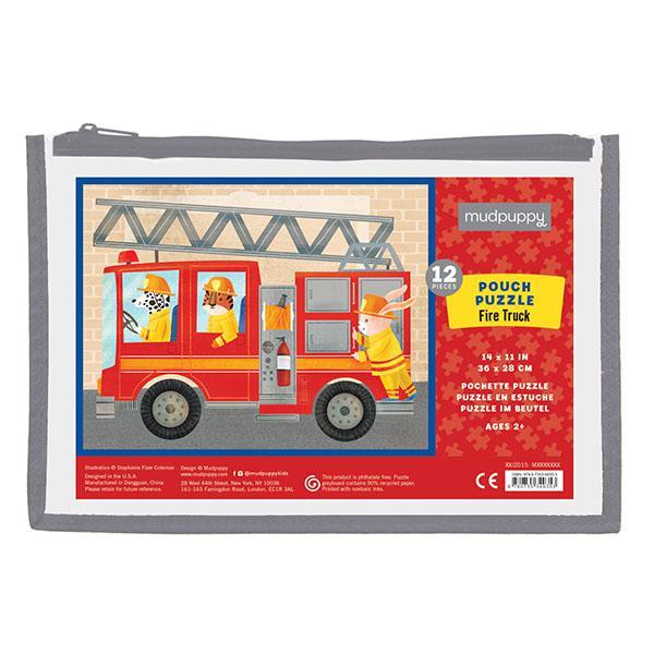 Mudpuppy puzzel brandweer in buidel 12 stukjes vanaf 2 jaar