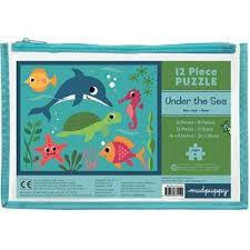 Mudpuppy kinderpuzzel in buidel Onder de Zee 12 stukjes vanaf 2