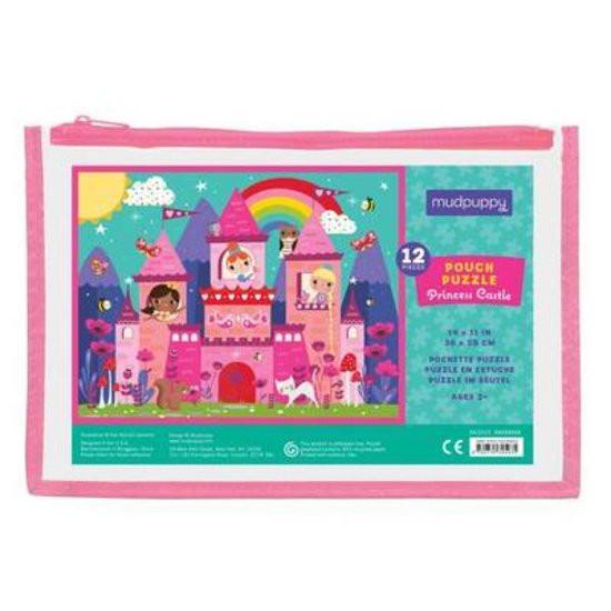 Mudpuppy kinderpuzzel in buidel Prinsessen Kasteel 12 stukjes va