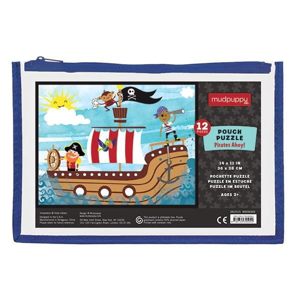 Mudpuppy kinderpuzzel in buidel Ahoy Piraten 12 stukjes vanaf 2