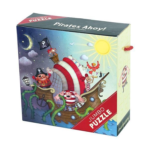 Mudpuppy Jumbo puzzel piraten 25 stukjes vanaf 2 jaar