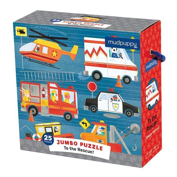 Mudpuppy Jumbo kinderpuzzel Hulpverleners 25 stukjes vanaf 2 jaa