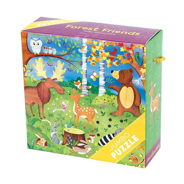 Mudpuppy Jumbo kinderpuzzel Bosdieren 25 stukjes vanaf 2 jaar