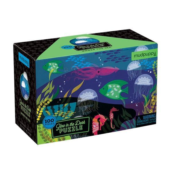Mudpuppy kinderpuzzel glow in dark onder de zee 100 stukjes vana