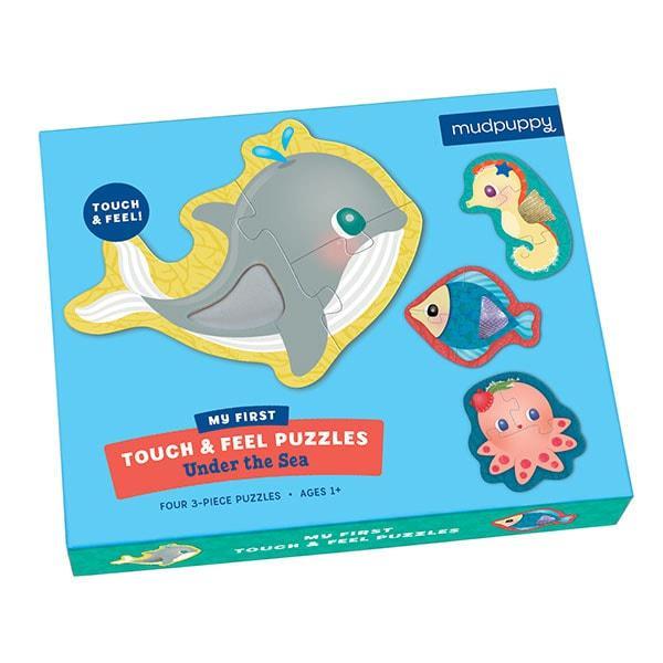 Mudpuppy kinderpuzzel raak en voel onder de zee 4 stukjes voor p