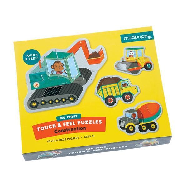 Mudpuppy kinderpuzzel Raak en Voel Constructie 3 stukjes voor pe