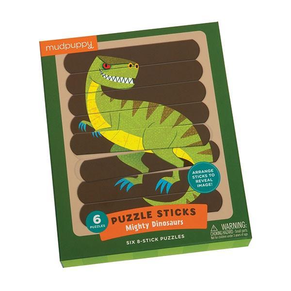 Mudpuppy puzzel sticks dinosaurus 24 stukjes vanaf 3 jaar
