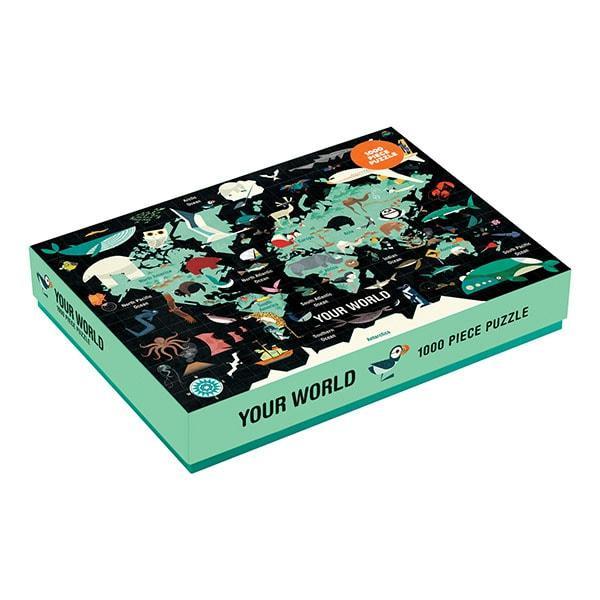 Mudpuppy puzzel jou wereld 1000 stukjes vanaf 8 jaar